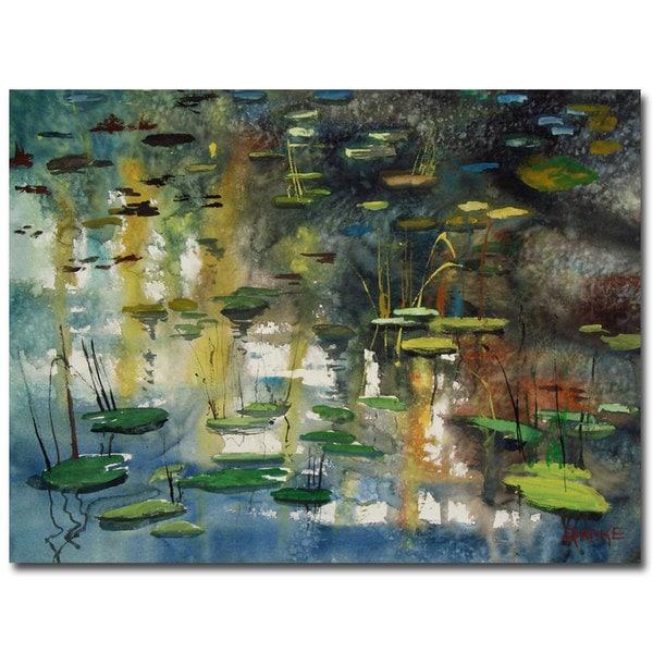 Ryan Radke 'Faces in the Pond' Canvas Art