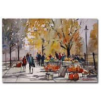 Ryan Radke 'Farm Market - Menasha' Canvas Art - Multi