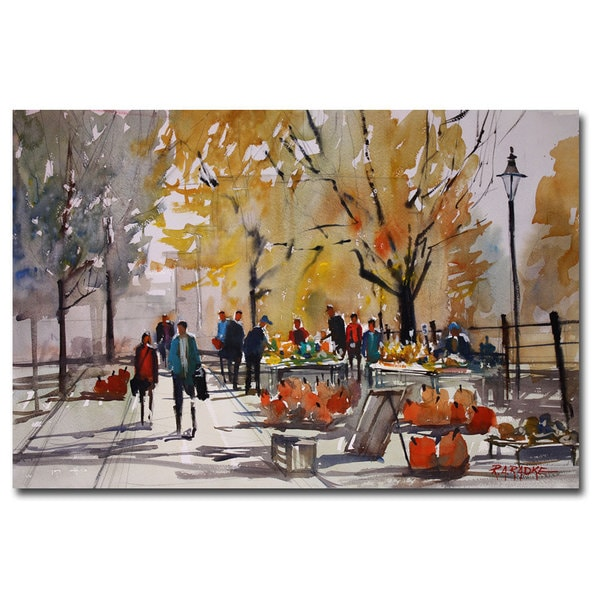 Shop Ryan Radke 'Farm Market - Menasha' Canvas Art - Multi - On Sale - Free Shipping On Orders ...