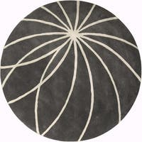 Hand-tufted Escalade Iron Ore Floral Wool Area Rug - 6'
