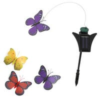 Solar-powered Flickering Monarch Butterfly Garden Decor