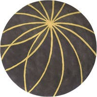 Hand-tufted Escort Iron Ore Floral Wool Area Rug - 4'