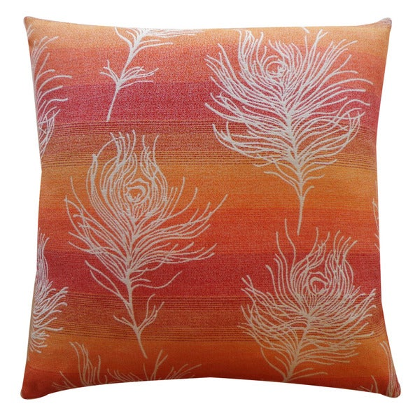 Jiti 'Feather Negative' Orange 20-inch Pillow