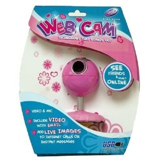 Pink Daisy Girl Gear VGA Webcam with Mic