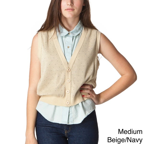 American Apparel Lightweight Knit Cropped Dot Vest