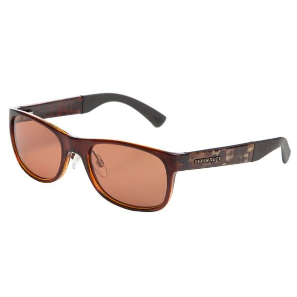 Serengeti Men's 'Piero' Bubble Tortoise Frame Sunglasses