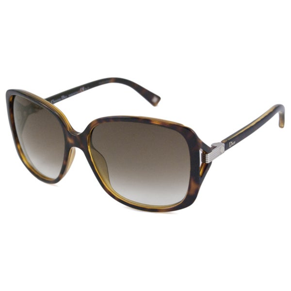 f3d35f4ec4e7 Shop Christian Dior Women s Dior Symbol 1 Rectangular Sunglasses ...