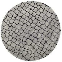 Safavieh Handmade Terra Grey New Zealand Wool Rug (6' Round) - 6'