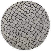 Safavieh Handmade Terra Grey New Zealand Wool Rug - 6' x 6' Round
