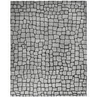 """Safavieh Handmade Terra Grey New Zealand Wool Rug - 7'6"""" x 9'6"""""""