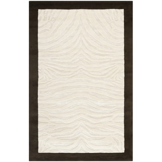 Safavieh Handmade Zebra Ivory New Zealand Wool Rug(7'6 x 9'6)