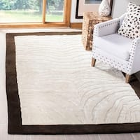 "Safavieh Handmade Zebra Ivory New Zealand Wool Rug - 7'6"" x 9'6"""