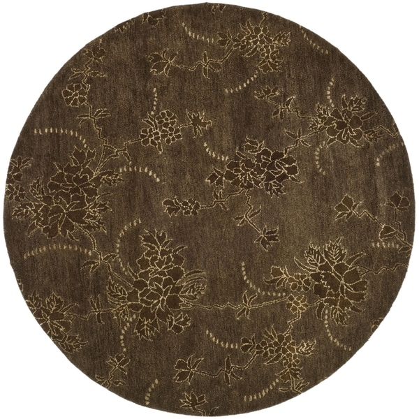 Safavieh Handmade Soho Fall Brown New Zealand Wool Rug (5' Round)