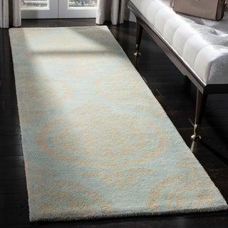 Safavieh Handmade Soho Blue and Beige New Zealand Wool Rug