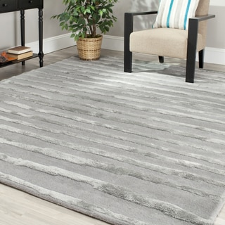 Safavieh Handmade Soho Stripes Grey New Zealand Wool Rug (9' x 12')