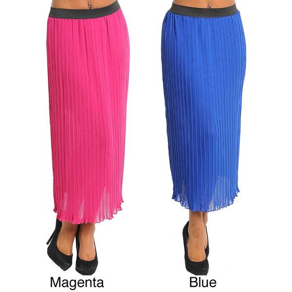 Stanzino Women's Pleated Long Skirt