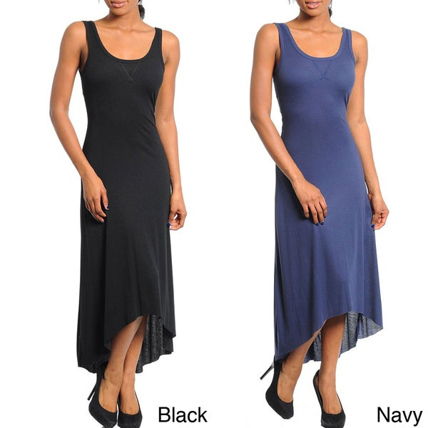 Stanzino Women's Sleeveless High-low Maxi Dress