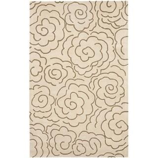 Safavieh Handmade Soho Roses Beige New Zealand Wool Rug (6' x 9')