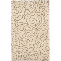 Safavieh Handmade Soho Roses Beige New Zealand Wool Rug - 6' x 9'