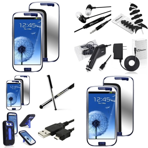 BasAcc Case/ Protector/ Chargers/ Headset for Samsung Galaxy S III/ S3