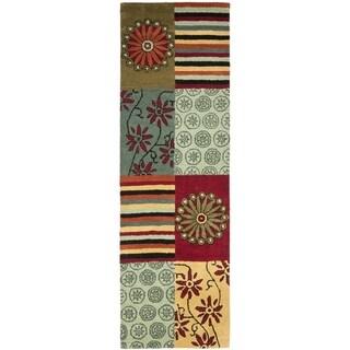 Safavieh Handmade Soho Patchwork Multi New Zealand Wool Rug (2'6 x 6')