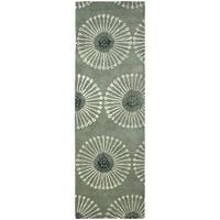 "Safavieh Handmade Soho Zen Grey/ Ivory New Zealand Wool Rug - 2'6"" x 6'"