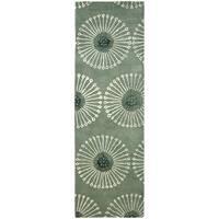 "Safavieh Handmade Soho Zen Grey/ Ivory New Zealand Wool Rug - 2'6"" x 14'"