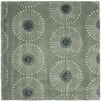 Safavieh Handmade Soho Zen Grey/ Ivory New Zealand Wool Rug - 8' x 8' Square