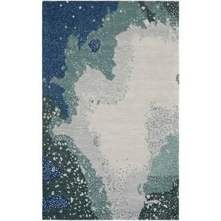 Safavieh Handmade Soho Modern Abstract Blue Wool Rug