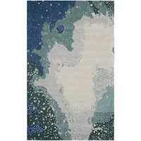 Safavieh Handmade Soho Modern Abstract Blue Wool Rug
