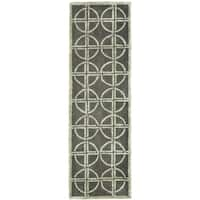Safavieh Handmade Soho Eternal Deco Grey/ Green N. Z. Wool Rug - 2'6 x 12'