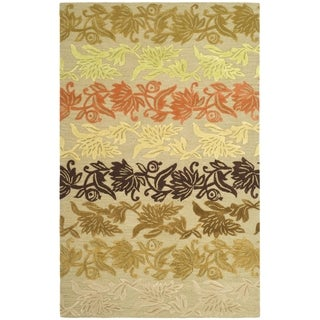 Safavieh Handmade Soho Passage Sage New Zealand Wool Rug (6' x 9')