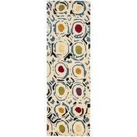 Safavieh Handmade Soho Modern Abstract Ivory/ Multi Wool Runner Rug - 2'6 x 6'
