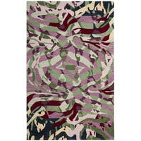Safavieh Handmade Soho Modern Abstract Rose Multicolored Wool Rug