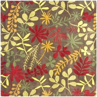 Safavieh Handmade Soho Brown/ Multi New Zealand Wool Rug (8' Square) - 8' Square