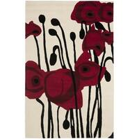Safavieh Handmade Orchids Ivory/ Red New Zealand Wool Rug