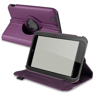 INSTEN Purple Leather Swivel Phone Case Cover for Barnes & Noble Nook HD