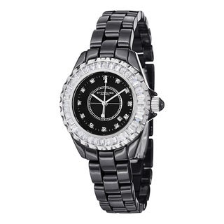 Stuhrling Original Women's Glamour II Japanese Quartz Crystal Ceramic Bracelet Watch