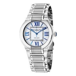 Stuhrling Original Men's Tribune Quartz Stainless Steel Bracelet Watch with Blue Hands