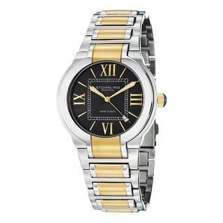 Stuhrling Original Men's Tribune Quartz Stainless-Steel Gold-and-Silver Bracelet Watch