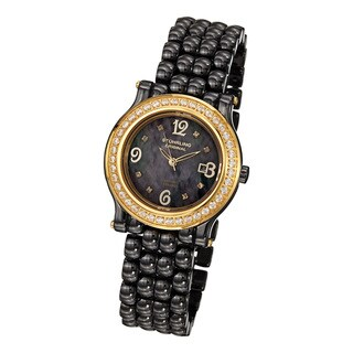 Stuhrling Original Women's Grace Quartz Crystal Ceramic Bracelet Watch