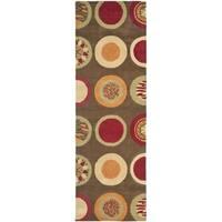 Safavieh Handmade Soho Brown/ Multi New Zealand Wool Rug - 2'6 x 10'