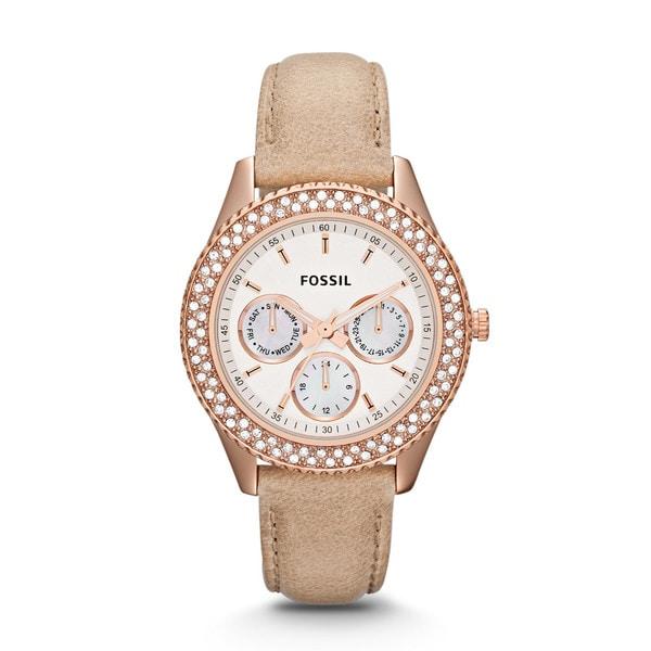 Fossil Women's ES3104 'Stella' Chronograph Leather Watch
