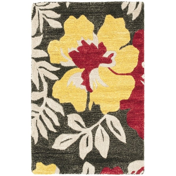 Safavieh Handmade Soho Brown/ Multi New Zealand Wool Rug (2'6 x 4')