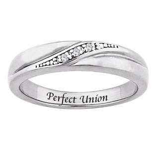 Sterling Silver Diamond Accent 'Perfect Union' Ring
