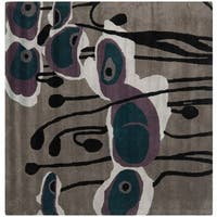 Safavieh Handmade Soho Modern Abstract Grey/ Blue Wool Rug - 6' x 6' Square