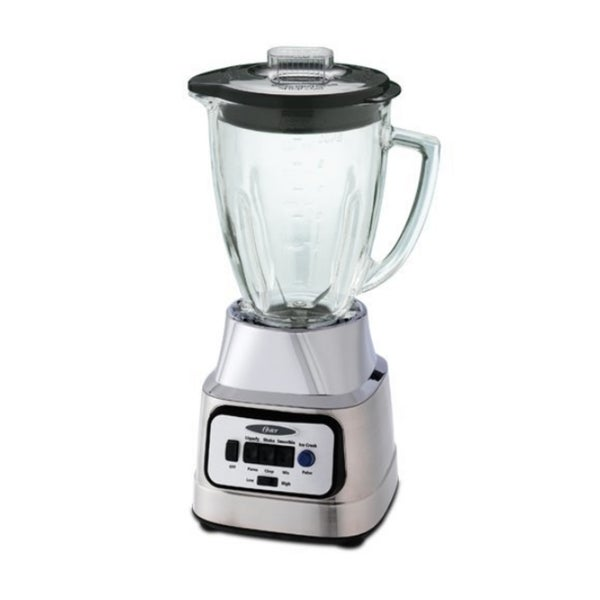 Oster BCBG08-C 6-cup Glass Jar 8-speed Blender with Food Processor Combo