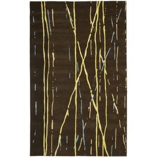 Safavieh Handmade Drizzle Brown New Zealand Wool Rug
