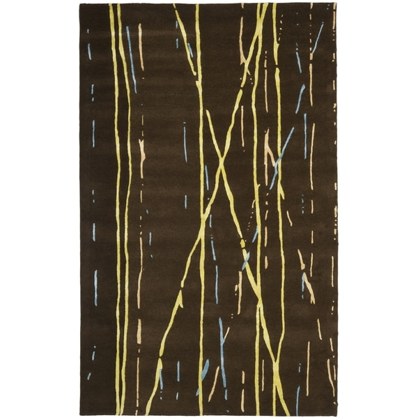 Safavieh Handmade Drizzle Brown New Zealand Wool Rug