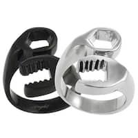 Vance Co. Men's Stainless Steel Wrench Design Ring